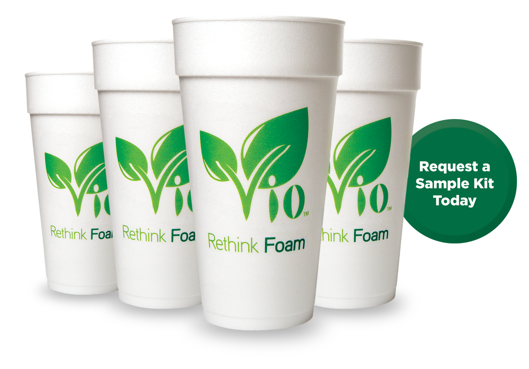 Vio Foam Biodegrades* 92% in Four Years.
