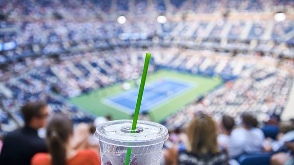 Now Serving Vio® Biodegradable* Straws At The Us Open™
